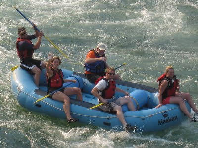Kevin Foley, white-water rafting